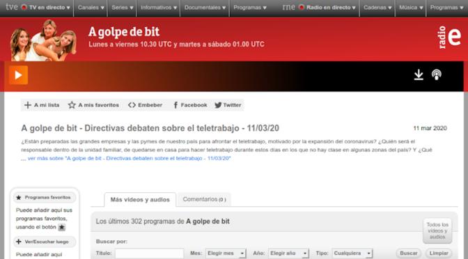 Directivas debaten sobre el teletrabajo (A golpe de bit, Radio Exterior de España)