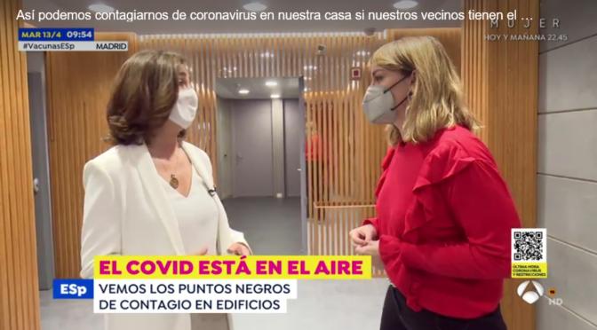 El COVID está en el aire (Entrevista en Espejo Público, Antena 3)